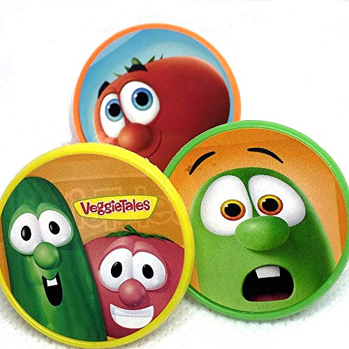 Veggie Tales Cupcake Toppers Cake Topper Party Favors Birthday Party Supplies Set of 15 rings from Blue Fox Baking