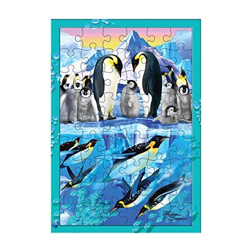 Deluxebase 3D LiveLife Tray Jigsaw Puzzle - Immersione del Pinguino. Puzzle lenticolare del Pinguino 3D con 40 Pezzi! Tray Puzzle Range Materiale illustrativo Originale conceduto Una Licenza a dal