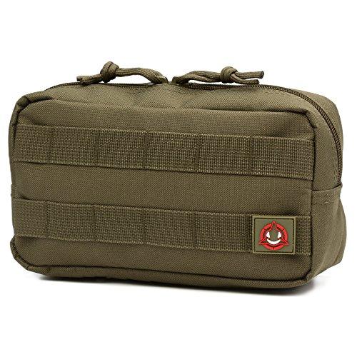 Orca Tactical Horizontal Multi-Purpose Molle Admin Pouch Utility EDC Tool Gear Gadget Waist Bag Organizer (OD Green)