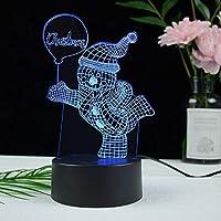 3D ナイトライト 誕生日 プレゼント 飾り付け 女性 男性 バレンタインデー プレゼント-USB駆動-USB + 7色_クリスマス