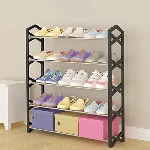 LIUYULONG Caja de Zapatos Zapatero Cinco Historia Familiar de Almacenamiento en Rack Asamblea Dormitorio Moderno Simple Zapato Gabinete 65x19x75cm Escaparate (Color : Black)
