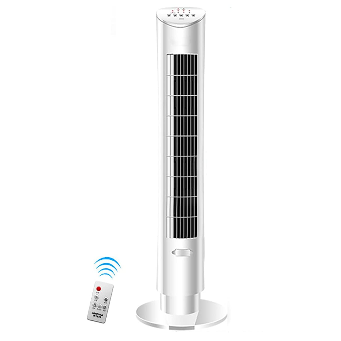 Vertical floor fan Air conditioner fan,Household Timing Fragrance Leafless Silent fan Intelligent remote control Evaporative coolers-White