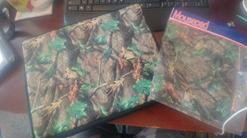 Kolder Neoprene Laptop Sleeve und Mouse Pad - Camouflage Forest Print (for laptops 15