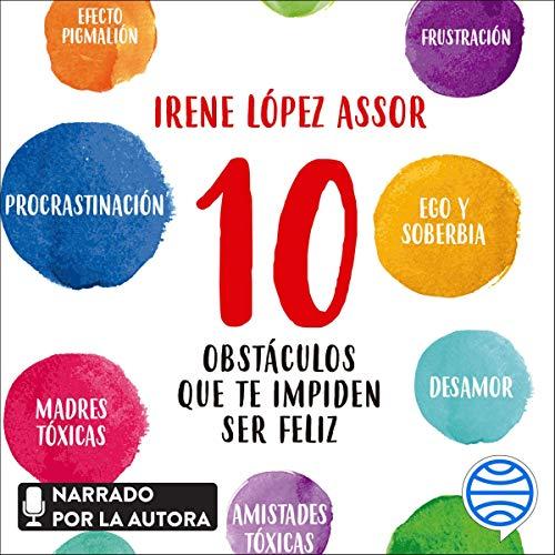 Diseño de la portada del título 10 obstáculos que te impiden ser feliz