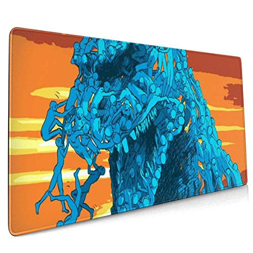 Mouse Pad Godzilla Large Mouse Pad, Gaming Mouse Pad, Non-Slip Mouse Pad, Home Mouse Pad, Office Mouse Pad 40 X 90 cm (15.8x35.5 Inches)