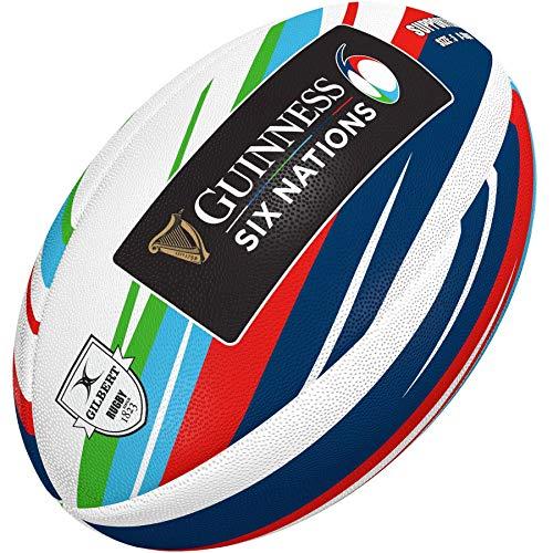 Gilbert pallone da rugby Supporter 6 Nazioni 2020, Size 5