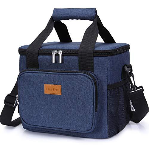 Lifewit 15L Kühltasche Picknicktasche Lunchtasche Mittagessen Tasche Thermotasche Kühltasche Isoliertasche für Lebensmitteltransport,Blau