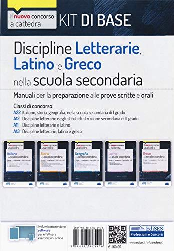 Kit discipline letterarie, latino e greco. Classi A22, A12, A11, A13. Con software di simulazione