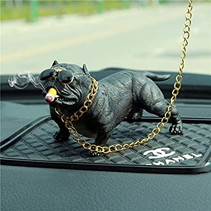 Vicious Dog B Mofi Car Interior Display American Bully Figurine Decoration Car Dashboard Ornament Car Home Decor Car Ornaments