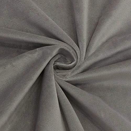 MUYUNXI Tela De Terciopelo Suave para Coser De Chaquetas Decoración Decoración del Hogar Cortinas Tapicería Vestido Sillas 280 Cm De Ancho Vendido por 2 Metro(Color:Gris)