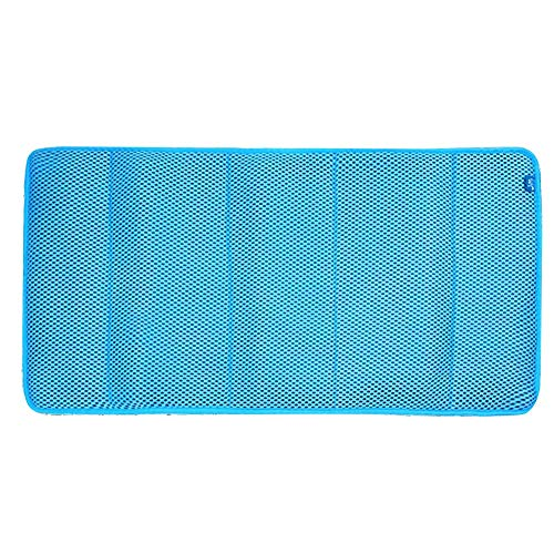GHHQQZ 3D Badezimmer Teppiche Polyester rutschfest Leistungsstarker Sauger Atmungsaktiv Baden Fuß-Pad Badteppiche, 4 Farben, 1,2 cm Dick, 4 Größen (Color : Blue, Size : B-45x60cm)