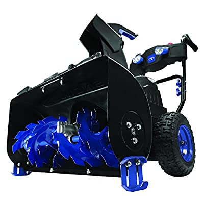 Snow Joe iON8024-XR 80-Volt iONMAX Cordless Two Stage Snow Blower Kit | 24-Inch | 4-Speed | Headlights | W/ 2 x 5.0-Ah Batteries and Charger