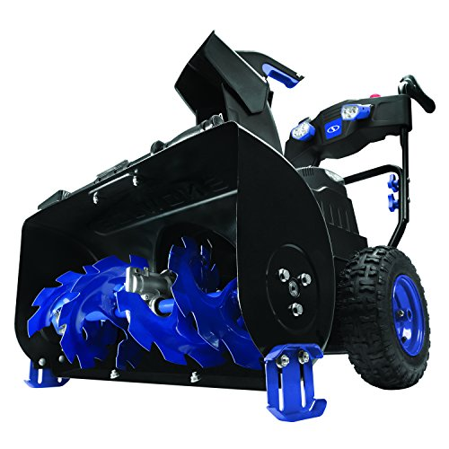 Snow Joe iON8024-XRP 80-Volt iONMAX Cordless Two Stage Snow Blower Kit | 24-Inch | 4-Speed | Headlights | W  2 x 6.0-Ah Batteries and Charger