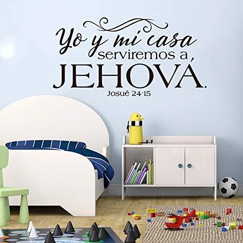 De la pared del vinilo de la novedad Etiqueta engomada de la pared de Jesucristo | Adecuado para la decoración de la etiqueta de la pared de la sala de juegos del dormitorio del bebé
