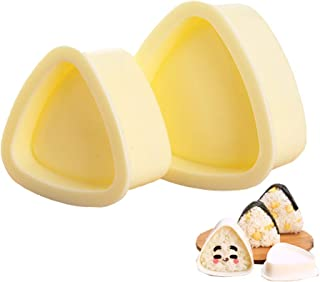 Onigiri Mold Triangle, 2 Pieces Rice Ball Mold Makers, Triangle Sushi Mold for Bento or Japanese Boxed Meal Children Bento...