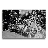 Premium Textil-Leinwand 75 x 50 cm Quer-Format Touren Chopper - AWO Umbau in der DDR | Wandbild, HD-Bild auf Keilrahmen, Fertigbild auf hochwertigem Vlies,...