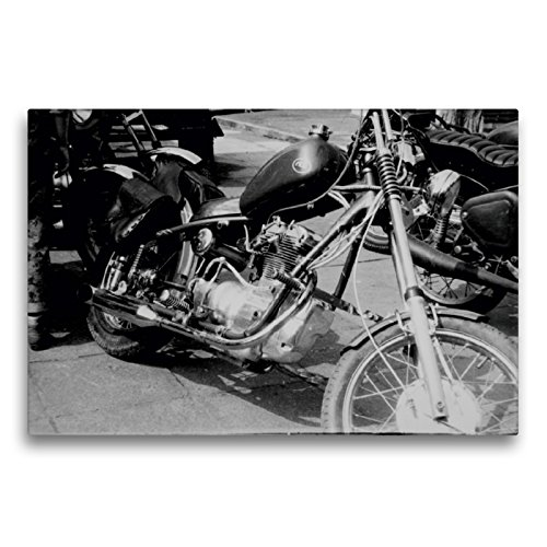 Premium Textil-Leinwand 75 x 50 cm Quer-Format Touren Chopper - AWO Umbau in der DDR | Wandbild, HD-Bild auf Keilrahmen, Fertigbild auf hochwertigem Vlies, Leinwanddruck von Dirk Ehrentraut