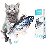 Electric Fish Cat Toys,  Realistic Plush Simulation Electric Wagging Fish Cat Toy Catnip Kicker Toys, Funny Interactive Pets Pillow Chew Bite Kick Supplies for Cat Kitten Kitty (Catfish)