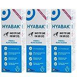 3 x nuevos HIPOTÓNICA Hyabak 10ml Libre De Conservantes