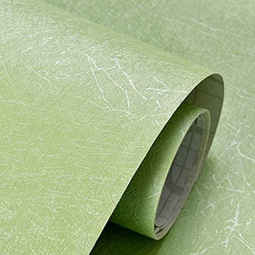Pegatinas De Pared Dormitorio, Auto-adhesivo De La Textura De Seda Papel Pintado PVC Impermeable Sólido Fondo De Pantalla En Color Habitación Dormitorio Moderna Habitación Reformada Etiqueta De La Pa