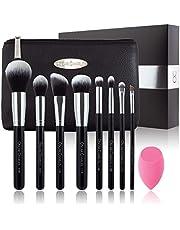 Set van make-upkwasten van Oscar Charles: 8 professionele make-upkwasten, beauty blender en make-uphandtasje in een mooie geschenkdoos