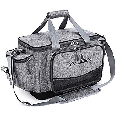 Yvleen Fishing Tackle Box Bag - Outdoor Large Fishing Tackle Storage Bag - 100% Water-Resistant Polyester Material - Fishing Tackle Bags - Suitable for 3600 3700 Tackle Box (Without)