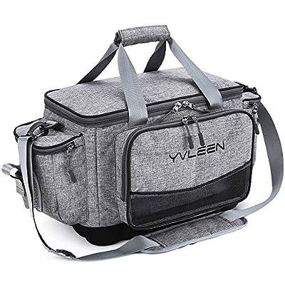YVLEEN Fishing Tackle Box Bag - Outdoor Large Fishing Tackle Storage Bag - 100% Water-Resistant Polyester Material - Fishing Tackle Bags - Suitable for 3600 3700 Tackle Box