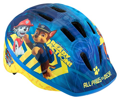 Licensed Paw Patrol Toddler and Kids Bike Helmet, Toddler, All Paws, All Paws Blue