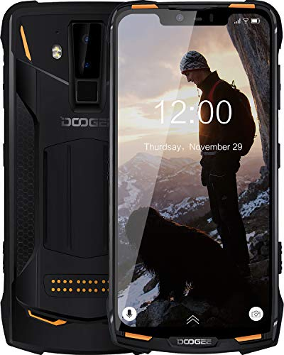 comparateur Unbreakable Phone Unlocked DOOGEE S90 C 4G Cell Phone 4 + 128GB IP68 Waterproof Smartphone Android 9.0 6.18inch 10050mAh (with Mod) 16 + 8 + 8 MP Camera HiFi Speaker Module – Orange
