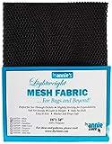 byannie sup209Black Lightweight Mesh Fabric, 18x 54Pollici Circa 45,7x 137cm in Tessuto a Rete, 100Percent Poliestere, Nero, 28x 20x 1cm