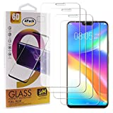 Guran 4 Paquete Cristal Templado Protector de Pantalla para Vivo Y85 Smartphone 9H Dureza Anti-Ara?azos Alta Definicion Transparente Película