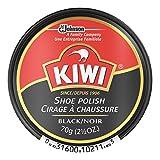 KIWI Shoe Polish Paste in Tin, Black Large 2.50 oz - 3 Pack