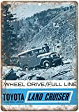 KODY HYDE Metall Poster - Toyota Land Cruiser Wheel Drive -