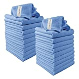 Microfibre Cleaning Cloths, 20 Pack, Blue, Microfibre Dusters, Machine Washable