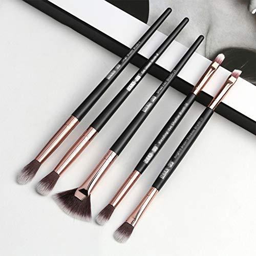 Set Brosse Maquillage Cheveux Nylon Utilisation Quotidienne Des Outils De Beauté Modification Du Visage Simple Double Tête Tête Brosse De Maquillage,5