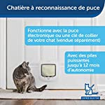 PetSafe - Chatière à Puce Électronique pour Chat Micropucé, Entrée Sélective, Facile à Installer, 4 options de verrouillage manuel, économe en énergie, coupe-vent, pratique, blanche (nouvelle version) #1