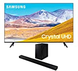 Samsung UN65TU8000 65' 8 Series Ultra High Definition Smart 4K Crystal TV with a Samsung HW-T650 Bluetooth Soundbar with Dolby Audio Wireless Subwoofer (2020)
