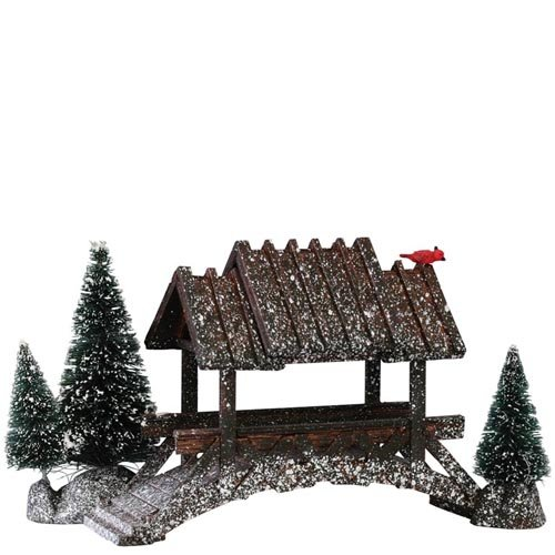 Lemax 14618 Wooden Bridge Porcelain Village Accessory, 5""