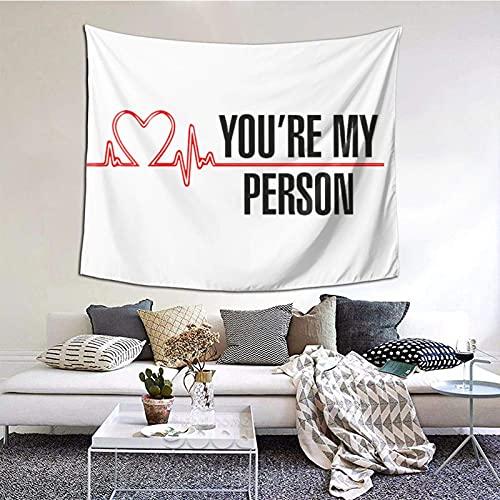 Grey's Anat-omy tapiz para colgar en la pared, dormitorio, decoración del hogar para sala de estar, 60 x 40 pulgadas