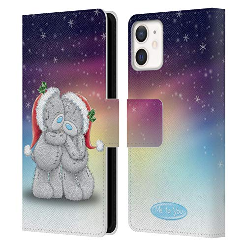 Me To You Night Before Christmas Schutzhülle für Apple iPhone 12 Mini, Leder, Motiv Tatty Teddy