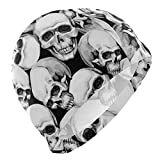 Gebrb Cuffie da Nuoto,Cuffie da Bagno,Cuffia Piscina Swim cap Skulls Funny Mens Swimming cap Boy Adult Teen Swimming Hat No-Slip