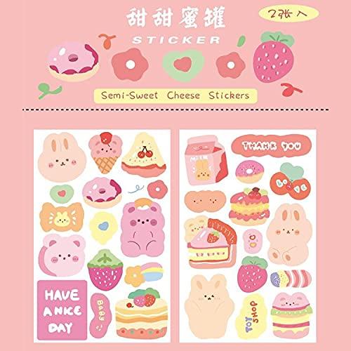 PMSMT 2 Blatt niedlichen Dessert kleinen Bären Aufkleber Scrapbooking dekorative Aufkleber koreanischen DIY Tagebuch Album Stick Aufkleber Kawaii Briefpapier