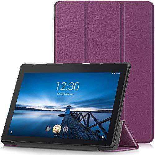 TTVie Case for Lenovo Tab E10, Ultra Slim Lightweight Smart Shell Stand Cover for Lenovo Tab E10 10.1' Tablet 2018 Release, Purple