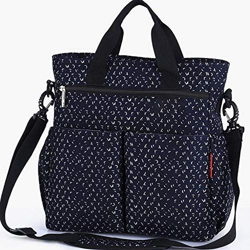 WUQIANG Nappy Bags Large Capacity Mommy Bag Set Waterproof Portable Mommy Bag, Large Diaper Storage Bag Suitable for Mothers and Infants, Multifunctional Waterproof Travel Baby Bag/Insulation Bag/Diap