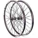 NS Aire Libre 26/27.5/29 Pulgadas Mountain Bike Wheel Set Disc Freno MTB Ruedas Thru Eje Six Holes 21mm Altura 24 Agujeros Actuación (Size : 27.5in)
