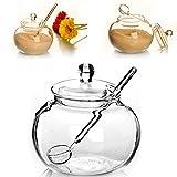 Kicode Haushalt Kristall transparent 250ml Einmachglas Süßigkeiten Spice Cylinder Kochen Spice Sugar Bowl - 2