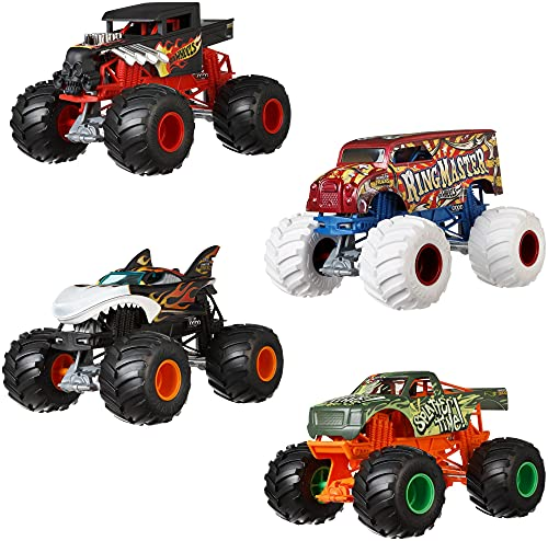 Hot Wheels Monster Trucks All BEEFED UP die-cast 1:24 Scale Vehicle with Giant Wheels for Kids Age 3 to 8 Years Old Great Gift Toy Trucks Large Scales
