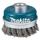 Makita D-29290 - Spazzola metallica 100 millimetri tazza inserimento m14 a forma di treccia in acciaio ondulato dritto 0,5 millimetri