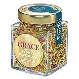 GRACE • CLEAR SKIN: Klärendes Anti-Pickel-Gesichtsdampfbad, 100% organic & handmade, Floral Face Steam mit Hanf, Mädesüß, Zaubernuss & Schafgarbe, Rosen, Ringelblumen, Kamille