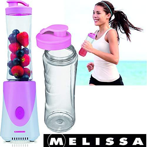 Melissa 16180114 Frullatore, Tazza con Coperchio per Viaggiare, Rosa